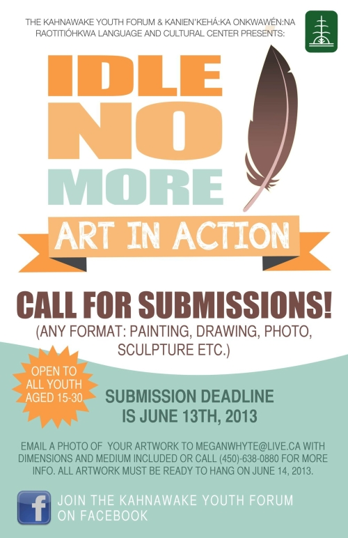 Idle No More Call Out for Submissions
