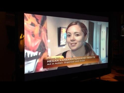 Interview for APTN: Art in Action Making National News!